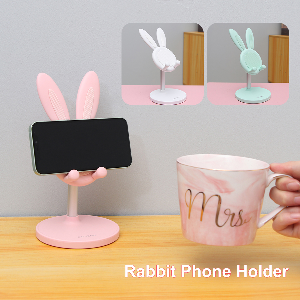 Oreilles de lapin réglables tablette télescopique Support de socle de bureau multifonction télescopique téléphone métal Support accessoires