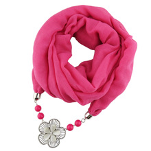 Pure TR cotton jewelry necklace Necklace Alloy Flower Pendant pendant scarf lady foreign trade trend shawl