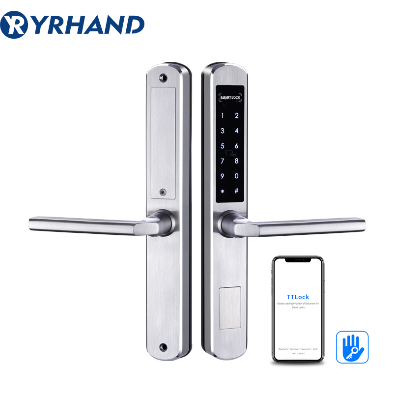 TTLock App Smart Sliding Lock WIFI Electronic Door Lock Bluetooth Digital APP Keypad Code RFID Card Keyless Lock
