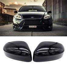 1 par left & right espelho retrovisor capa tampa lateral espelho escudo acessórios para ford focus 2012 2013 2014 2015 2016 carro estilo