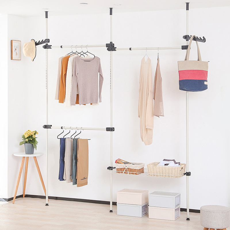 Clothes Hanger Coat Rack Floor Hanger Storage Wardrobe Clothing Drying Racks Porte Manteau Kledingrek Perchero De Pie