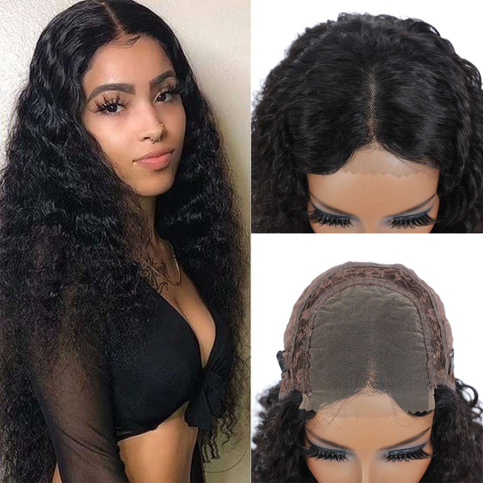Water Wave 13x4 Lace Front  Wigs for Black Women Prepluck Glueless  Curly 4X4HD Lace Closure Wig 5