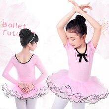 Girls Ballet Tutu Dress Kids Gymnastics Tulle Skirted Leotards Pink Tutu Ballet
