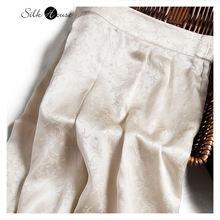 Женские винтажные жаккардовые брюки gaommi из шелка тутового