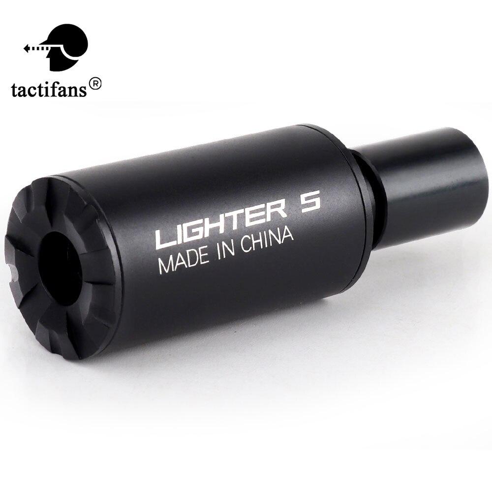 Tactical airsoft auto isqueiro s tracer flash barril decorador para automático rifle pistola cs tiro paintball acessórios