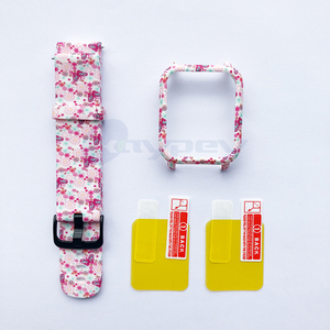 Image 4 - 4in1 For Amazfit Bip Strap 20mm Watch Band Camouflage Silicone Bracelet For Xiaomi Amazfit Bip Bit Youth Case Cover Accessories