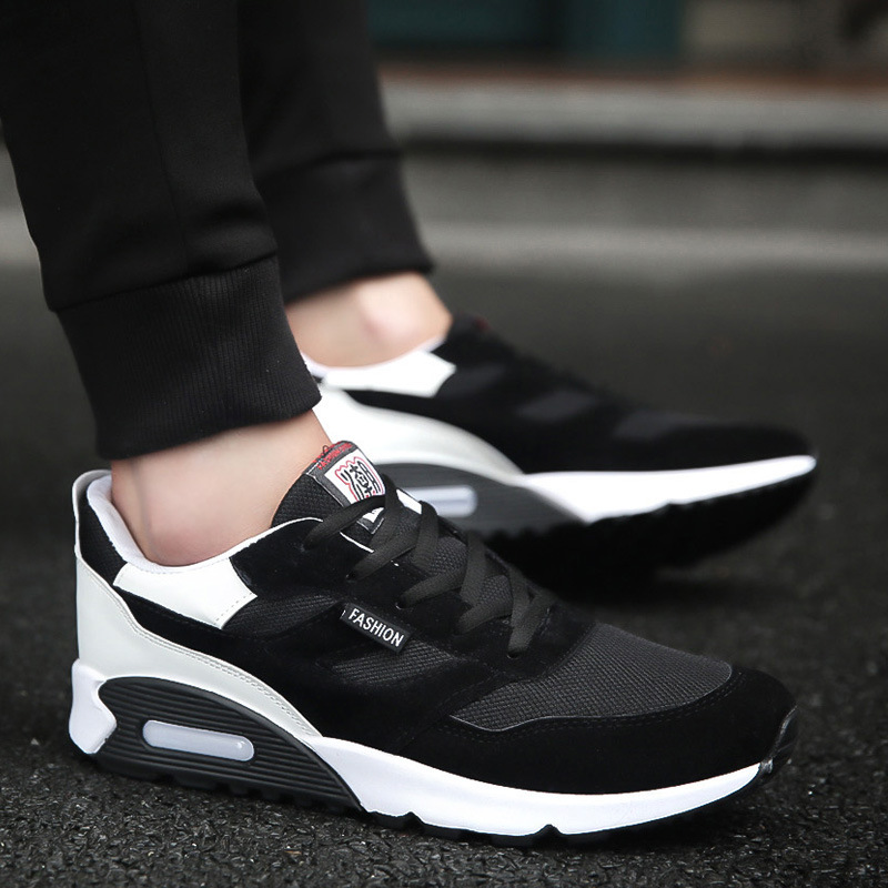Spring and autumn new fashion men's shoes thick bottom gas mesh breathable increase height wear-resistant youth tide shoes