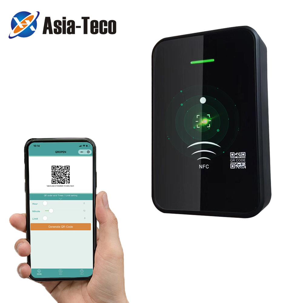 barcode Qr code reader access control reader 13.56Mhz IC card reader RS232 RS485 Wiegand 26 34 TTL 20000 user wechat free SDK|Access Control Kits|   - AliExpress