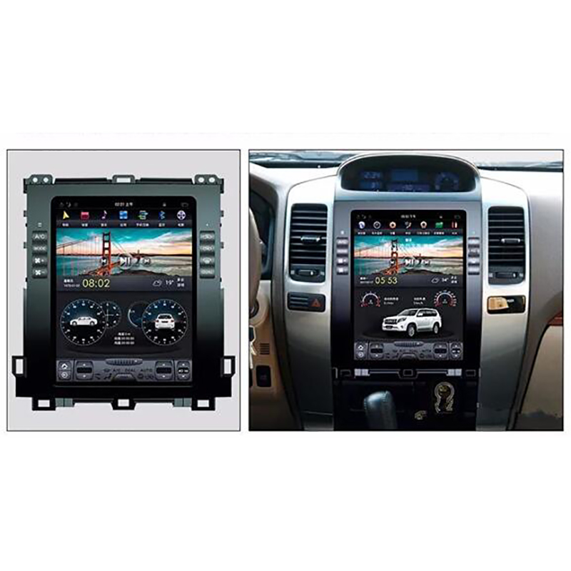 ChoGath 10.4 inch 4G RAM +64G ROM Android 8.0 Car GPS for <font><b>Prado</b></font> <font><b>120</b></font> <font><b>2006</b></font> 2007 2008 2009 withGPS auto radio No DVD with maps image