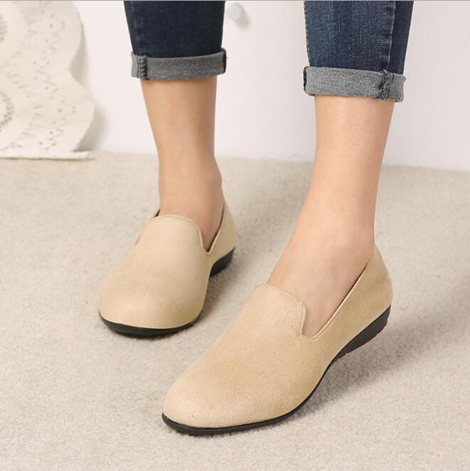 Vrouwen Flats 2019 Vrouwen Schoenen Candy Kleur Vrouw Loafers Lente Herfst Platte Schoenen Vrouwen Zapatos Mujer Zomer Schoenen Maat 35 41 - 2