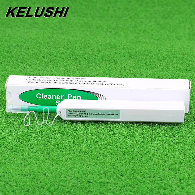 KELUSHI One Click Fiber Optic Connector Cleaner Fiber Optic Cleaner Tools for 2.5mm SC ST FC and 1.25mm LC Connector