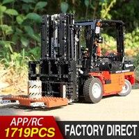 City Engineering Vehicles RC Forklift Truck Building Blocks Compatible Lepining Technic Crane Bricks Educational Toys Model kit