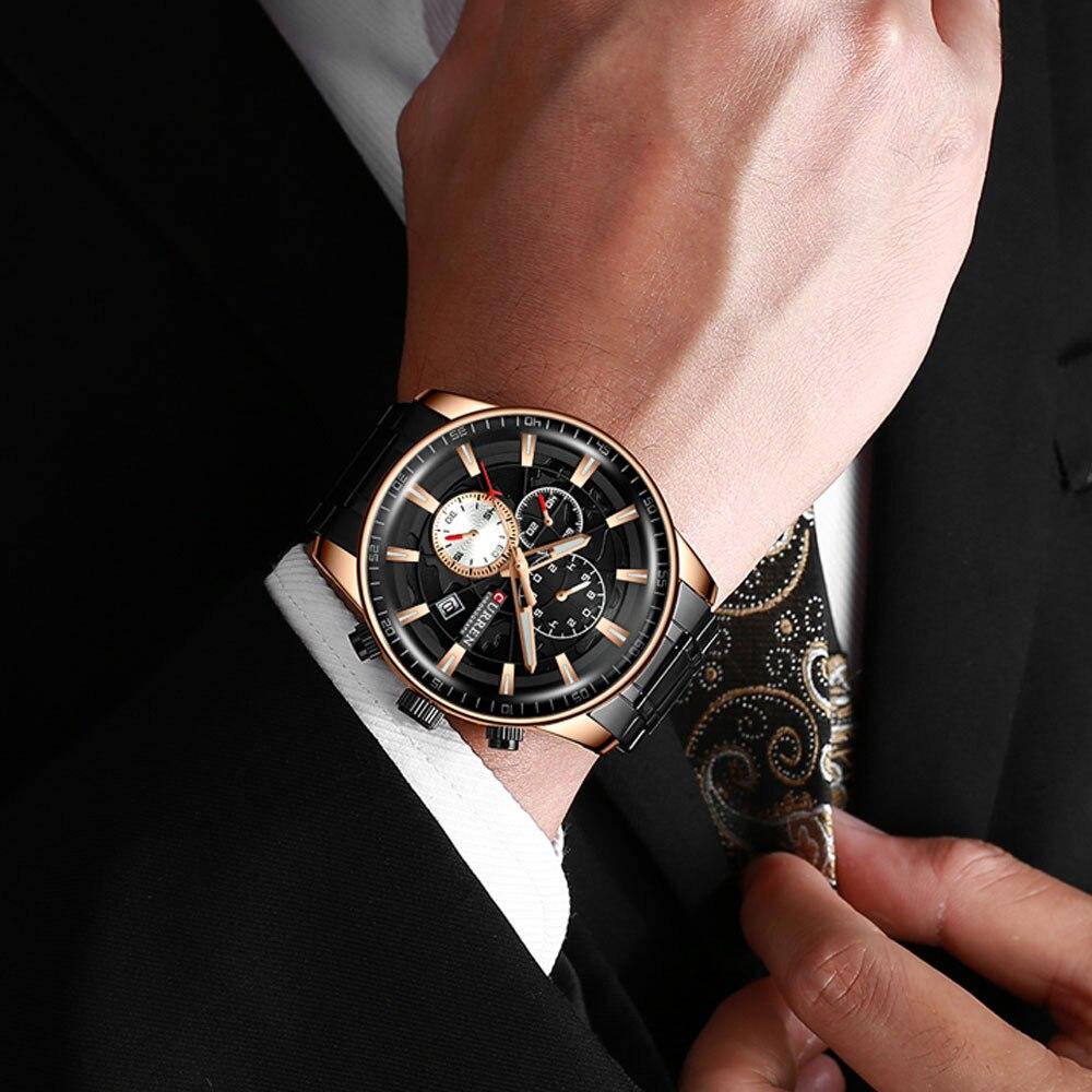 H44fabe7316724cc2ad8b081691cae815D Men's Watches CURREN Top Luxury Brand Fashion Quartz Men Watch Waterproof Chronograph Business Wristwatch Relogio Masculino