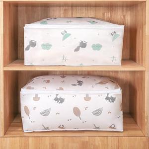 Foldable Storage Bag Quilt Pillow Blanket Drawer Organizer Moisture-proof Packing Bag Duffel Storage PEVA Clothing Organize Bag