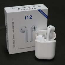 i12 Tws Bluetooth 5.0 Headset Mini Wireless Earphones With Mic Charging Box True Wireless Stereo Earbuds For iPhone Android aimitek k2 true wireless bluetooth earphones tws earbuds mini stereo headset handsfree with mic charging bank retail package box
