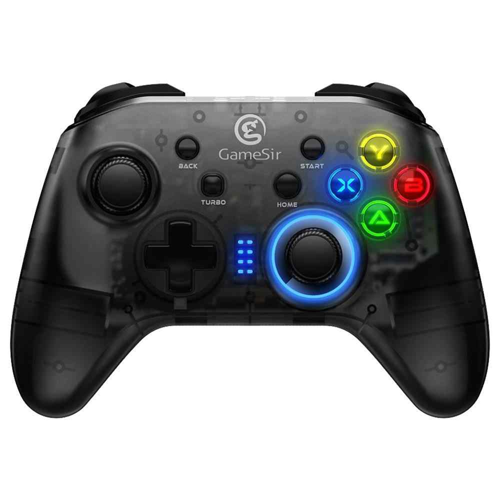 T4 2.4G Controller Wireless Gamepad Wired Gaming Colorato di Vibrazione Joystick per Finestre PC Interruttore PS3 TV BOX Smartphone