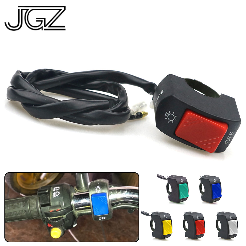 5 Colors Motorcycle On-Off <font><b>Switch</b></font> Push Button 22mm <font><b>Handlebar</b></font> <font><b>Switches</b></font> 12V ATV Electronic <font><b>Bike</b></font> Scooter Motorbike Bullet Connector image