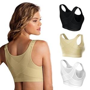 Posture Corrector Lift Up Bra Women Shockproof Sports Support Fitness Vest Bras Breathable Underwear Cross Back Corset Bra S-5XL
