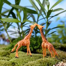 1/2PcsPortal Miniature Giraffe Deer Lovely Animals For Garden Home Decoration Little