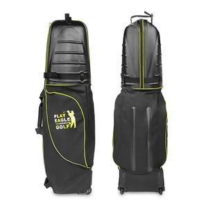 Image 4 - 골프 항공 가방 하드 탑 하단 바퀴 Shockproof 골프 여행 커버 가방 Protable 접는 골프 항공 가방 에어백 골프