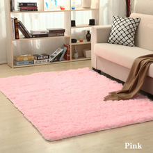 40x60cm Soft Silk Wool Rug Indoor Living Room Bedroom Silky Carpet Sofa Non-Slip Fluffy Floor Mats Home Decoration