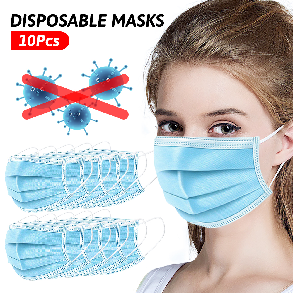 500 PCS Disposable Masks Mouth Cover Face Eye Earloop Mask 3 Layer Ear Loop Masks Safety Breathable Mask Fast Shipping 24H