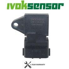 4บาร์4Barแผนที่Manifold Intake Air Pressure SensorสำหรับPeugeot KIA Citroen Hyundai Renault 80018383 5WK96841 2045431 5WY2833A