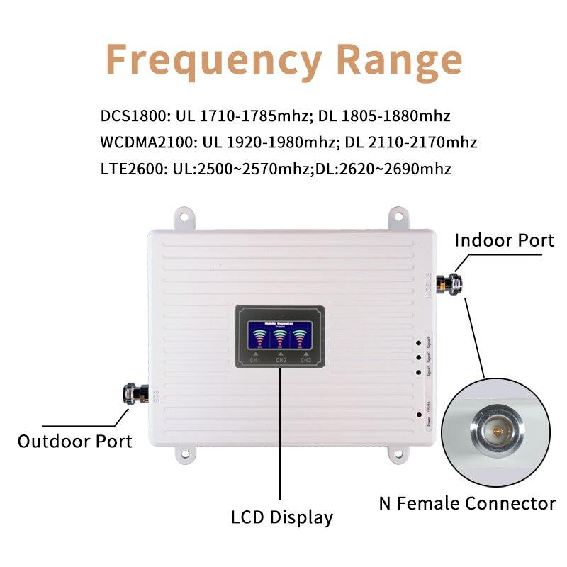 2g 3g 4g усилитель сотового сигнала Gsm трехдиапазонный мобильный усилитель сигнала LTE сотовый ретранслятор GSM DCS WCDMA 900 1800 2600 комплект