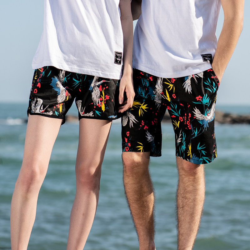 Beach Fashion Board Shorts for Swimming Hawaii Summer Men's Shorts Cotton Elastic Waist Short Pants Men Male Sexy Swimwear image