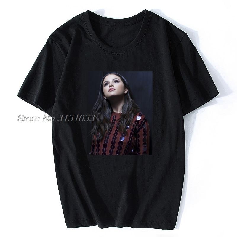 Hommes été T-shirt Grossbull DA Selena Gomez renouveau Tour affiche T-shirt femmes noir mode T-shirt t-shirts Harajuku Streetwear