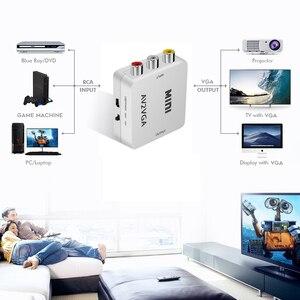 Image 3 - Kebidu Mini Hd AV2VGA Video Converter Converter Met 3.5 Mm Audio Av Vga Converter Conversor Voor Pc Naar Tv Hd computer Naar Tv