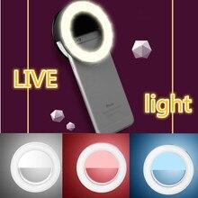 Ring-Light Lampe Makeup Led Selfie Mobile-Phones Novelty Batteries Garland