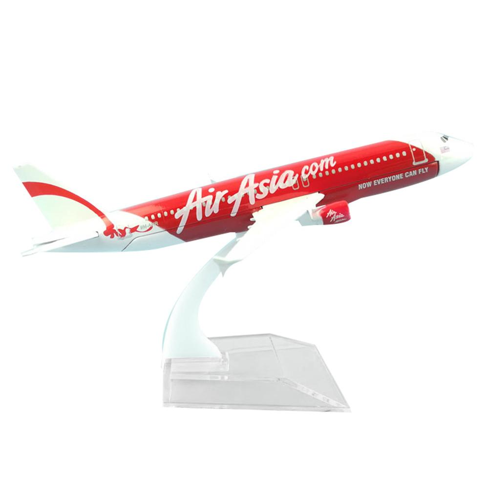 1/400 Air Asia A320 Alloy Plane Aircraft Airplane Model Kids Toy Birthday Gift image