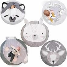 Yeni desen bebek oyun paspaslar çocuklar emekleme halı kilim bebek yatak tavşan battaniye pamuk oyun pedi çocuk odası dekorasyon