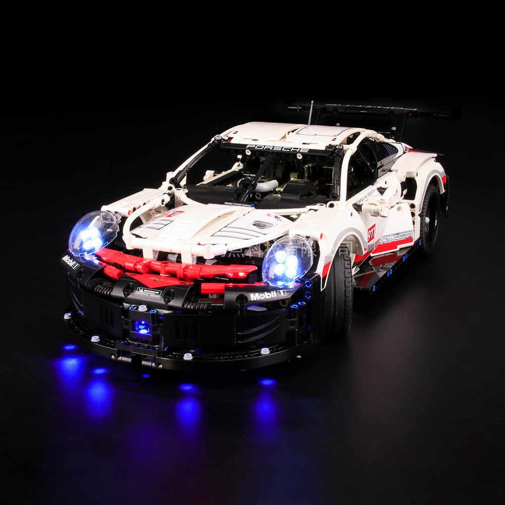 Led light up kit for <font><b>42096</b></font> <font><b>Technic</b></font> Series White Super Racing Car Set Building Blocks ( only light included) image