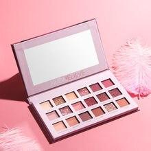 18 cores de longa duração mineral pó sombra maquiagem cosméticos conjunto à prova dwaterproof água glitter sombra matte shimmer paleta tslm2