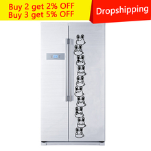 цена на New Creative Animal Refrigerator Sticker Cartoon Rabbit switch Wall Stickers Home room Decoration Kitchen Wall Decor Art Mural
