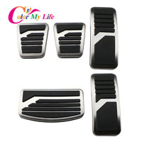 Color My Life Stainless Steel Car Pedal Pad Cover AT MT Pedals for Mitsubishi ASX Outlander Lancer EX Eclipse Cross Pajero ES