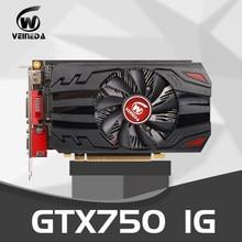 Placa gráfica original gtx 750 1gb 128bit gddr5 placas de vídeo para nvidia geforce gtx750 dvi placa vga mais forte do que hd6450 2gb, 650