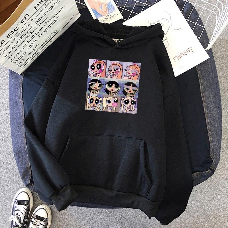 oversized Sweatshirt spring Streetwear Printing Hoodies Pullovers 2020 Fashion Harajuku Winter Hoodie Women Loose Korean Style 19