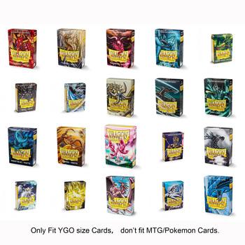 Dragon Shield 60 sztuk pudło YGO karty do gry rękawy gry dla yu-gi-oh karty walki Vanguard Bs mniejsze kartonowe karty do gry karty do gry Protector tanie i dobre opinie BLINKMOTH 6 lat 0-30 minut Primary YGO Matte Cards Sleeves Normalne Other Z tworzywa sztucznego Inne buławy Pokrywa karty