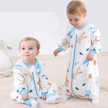 Novo barato bebê algodão respirável saco de dormir para o verão primavera outono, criança crianças pijamas recém-nascidos macacão, saco de dormir