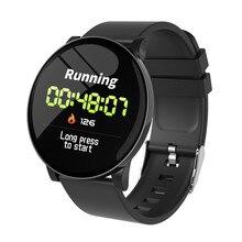 W8 חכם שעון עמיד למים גברים נשים לחץ דם קצב לב צג מזג אוויר תחזית כושר ספורט Smartwatch עבור אנדרואיד IOS