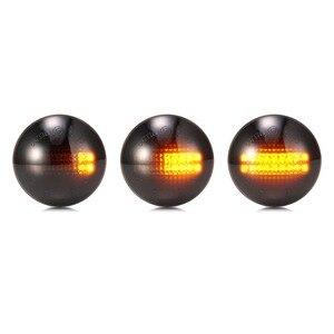 Image 2 - 2Pcs Led סרט דינמי צד מרקר רכב הפעל אות אור סדרתית נצנץ אור אמבר לנד טווח רובר L322 2002 2012