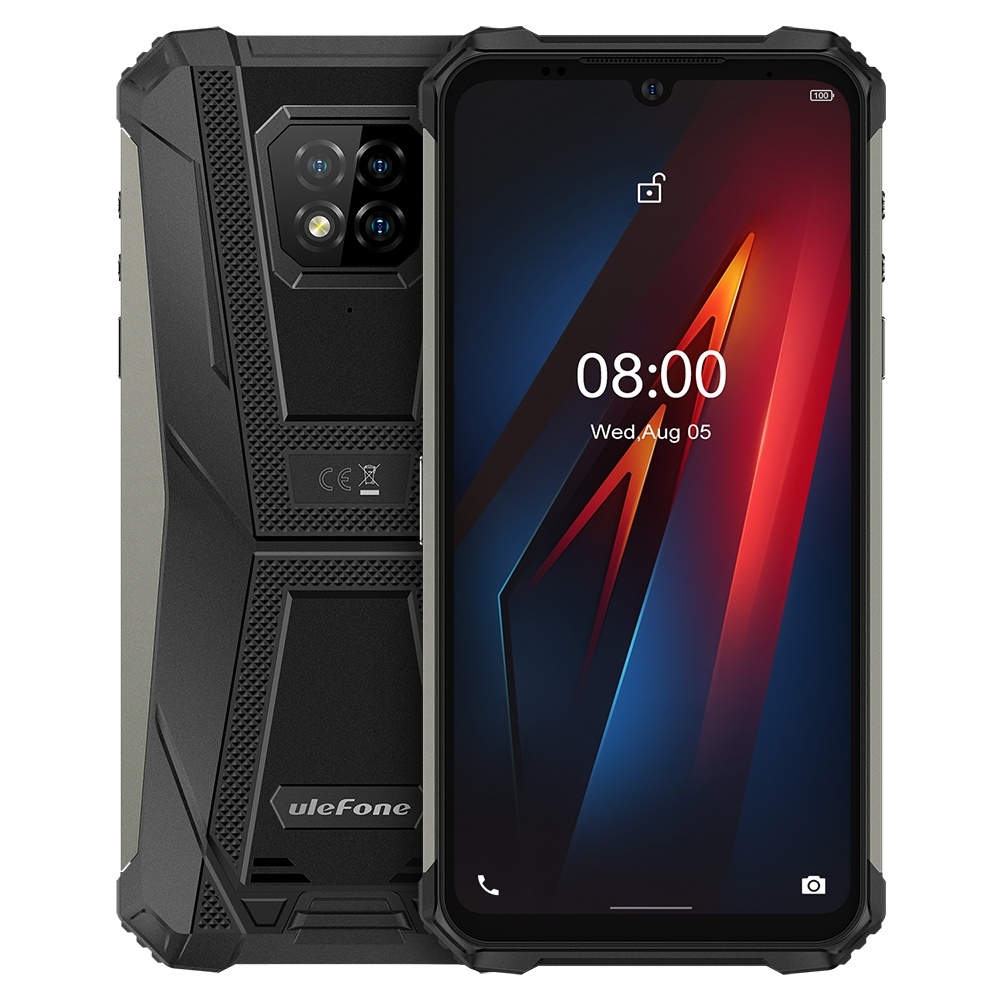 "Ulefone Rüstung 8 IP68 Robuste Smartphone 4 + 64GB Wasserdichte Handy 6.1 ""Screen Android 10 Helio P60 octa Core NFC 16MP Kamera"