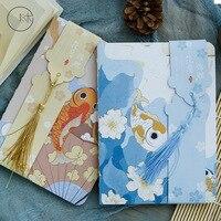 1 шт. Kawaii noteбок японский стиль аниме рыба блокнот планировщик книга журнал Офис Школа Студент принадлежности кавайные канцелярские принадл...