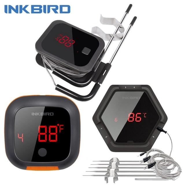 Inkbird IBT 2X 4XS 6XS 3 סוגי מזון בישול Bluetooth אלחוטי מנגל מדחום בדיקות & טיימר עבור תנור בשר גריל משלוח App בקרה