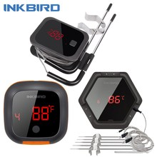 Inkbird IBT 2X 4XS 6XS 3 Types Food Cooking Bluetooth Wireless BBQ Thermometer Probes&Timer For Oven Meat Grill Free App Control