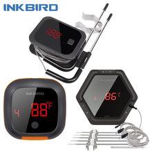 Inkbird ibt 2x 4xs 6xs 3 tipos de alimentos cozinhar sem fio bluetooth churrasco termômetro sondas & temporizador para forno carne grill controle aplicativo gratuito