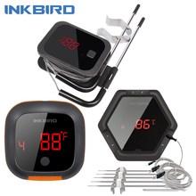 Inkbird IBT 2X 4XS 6XS 3 rodzaje żywności gotowanie Bluetooth bezprzewodowy Grill termometr sondy i zegar do piekarnika mięso Grill darmowa aplikacja kontrola tanie tanio REGULATOR TEMPERATURY CN (pochodzenie) IBT-2X IBT-4XS IBT-6X Wireless BBQ Thermometer 120 ° C i Powyżej DIGITAL Gospodarstwo domowe